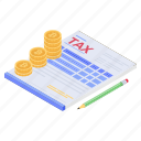 billing, gst, invoice, tax document, tax payment, tax report icon