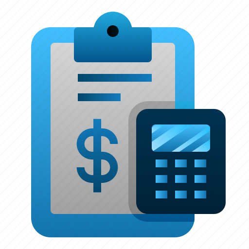 Accounting, calculator, clipboard, report icon - Download on Iconfinder