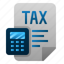 accounting, document, file, finance, paper, tax icon