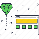 diamond, internet, layer, layout, page, website icon