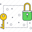 block, key, layer, lock, locker, security icon