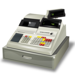 accounting, cashbox icon
