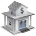 accounting, bank, house icon