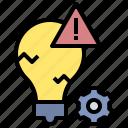 mistake, problem, error, risk, system, failure, warning icon