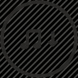 down, low, music, mute, sound, volume icon