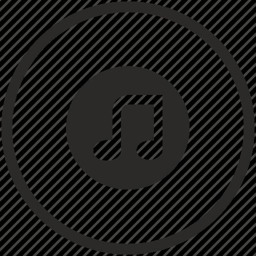 Label, Music, Mute, Note, Round, Sound, Speaker Icon
