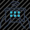 action, camera, console, fi, wi icon