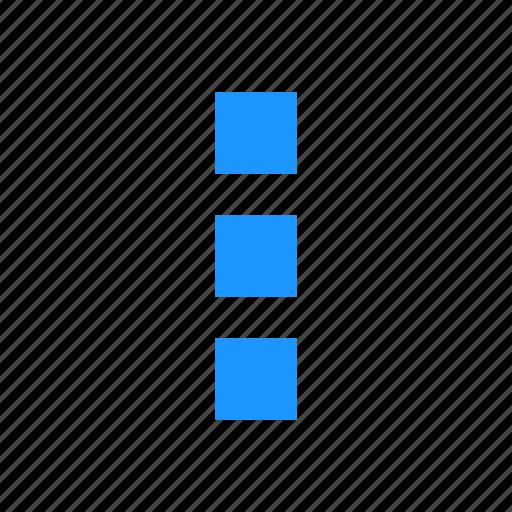 menu bar, notification, settings, squares icon