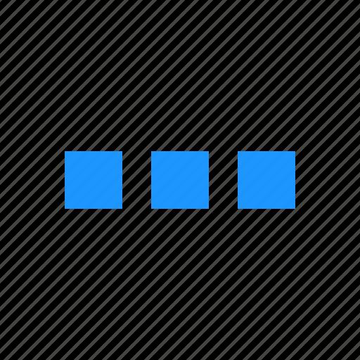 menu bar, notification, settings, square icon