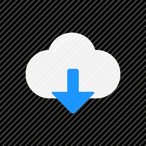cloud, download, icloud, sky icon