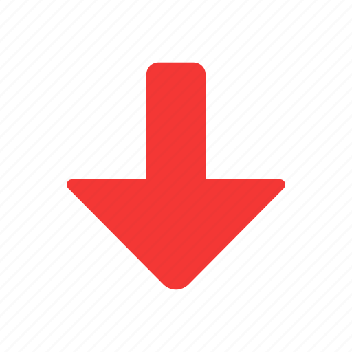 arrow, down, download, download file icon