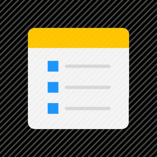 checklist, journal, list, notes icon
