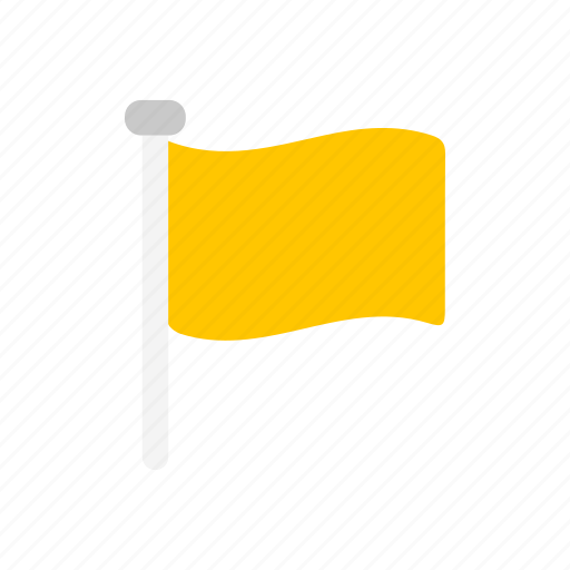 banner, flag, flaglets, yellow flag icon