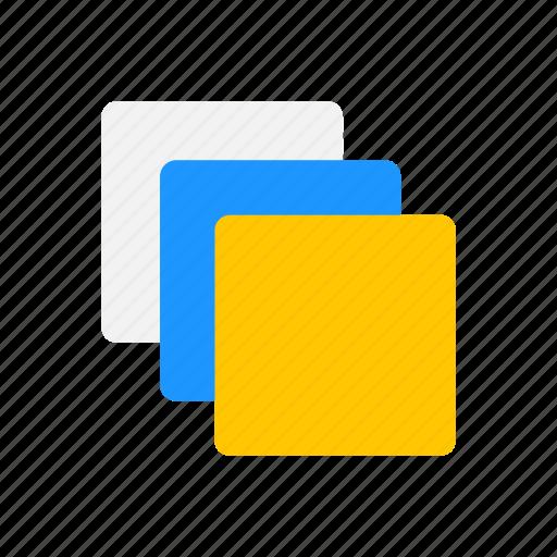 artboard, duplicate file, layer, squares icon