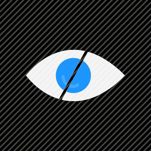 block, eye, hidden, private icon