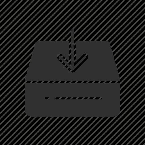 arrow down, download, navigate, pointer icon