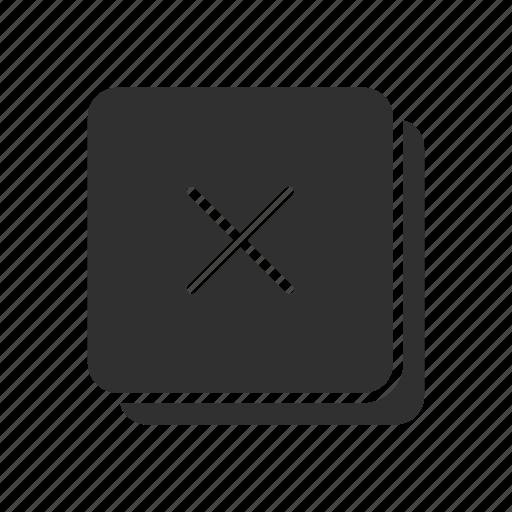 delete, remove, remove file, x icon