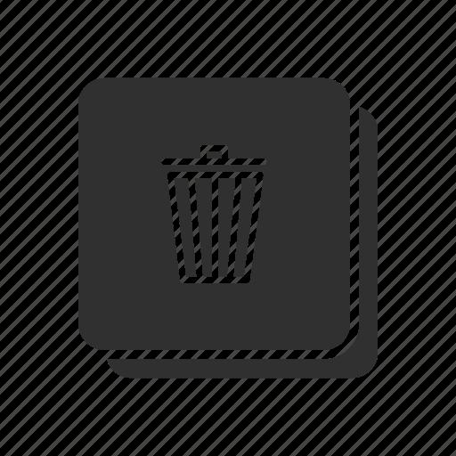 eraser, remove file, trash bin, trash can icon