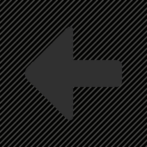 arrow left, direction, navigate, pointer icon
