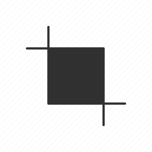 artboard tool, crop, lines, square icon