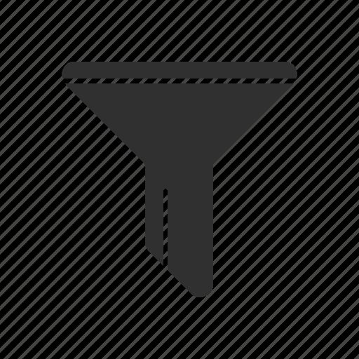 filter, funnel, liquid tunnel, tube icon