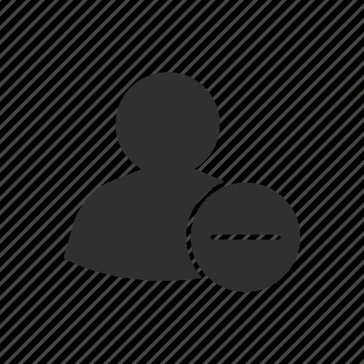 block contact, block list, block user, delete user icon
