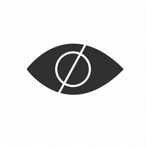 eye, hidden, private, unseen icon