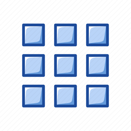 gallery, grid, photo library, windows icon
