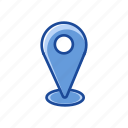 gps, location, map, place icon