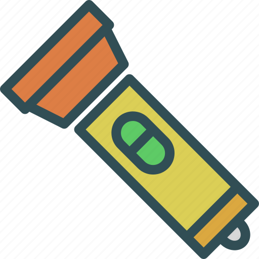 battery, flashlight, light, research icon