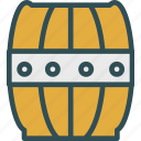 barrel, deposit, wine, wood icon