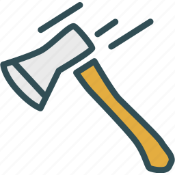 axe, cut, weapon, wood icon