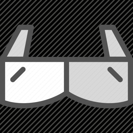 cinema, clip, film, glasses, movie, play, video icon
