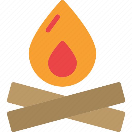 camping, fireplace, lightfire, travel icon