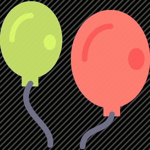 baloons, birthday, fireworks, fun, joy, party, rocket icon