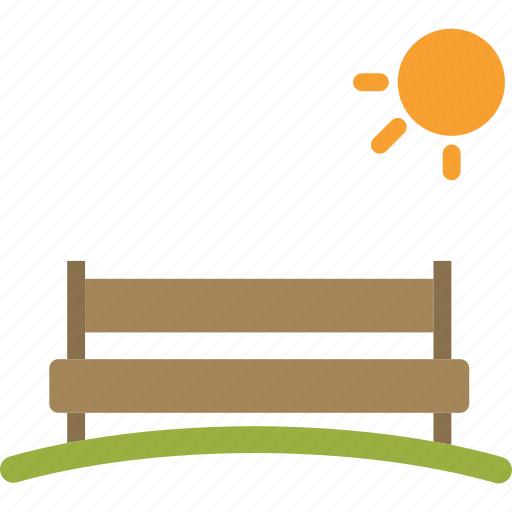 bench, landscape, rest, romantic icon