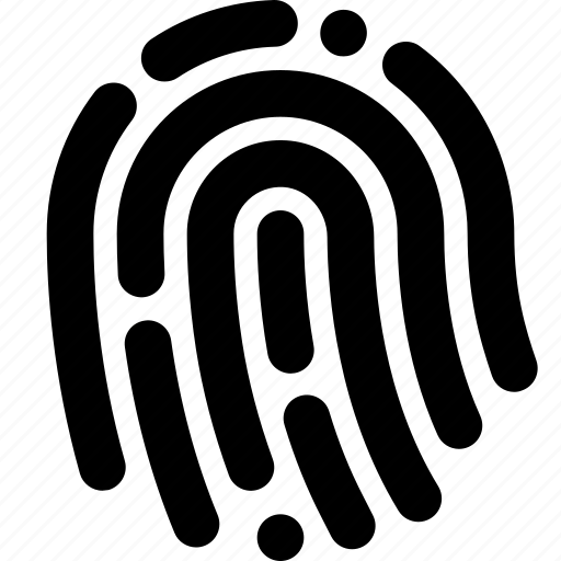 fingerprint, scanner icon