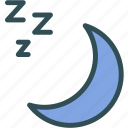 moon, night, silence, sleep icon