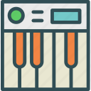 dj, keyboard, mix, music, piano, record, sound icon
