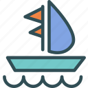 boat, relax, rich, sea, travel, yacht icon
