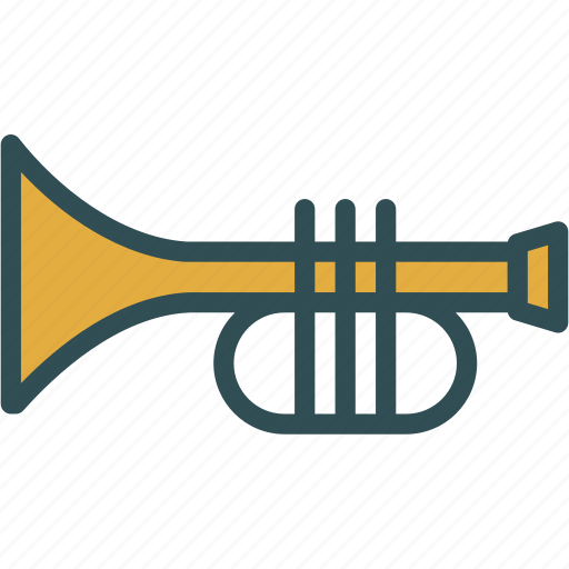 fanfare, instrument, music, trumpet icon
