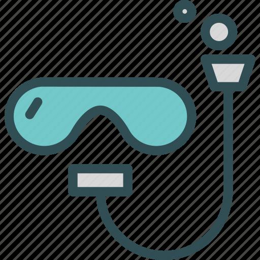 diving, drown, glasses, people, scuba, swim, water icon