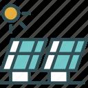electric, energy, guardar, save, solars, sun icon