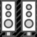 sound, speakers, set, music, cinema