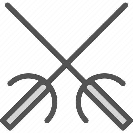fight, sport, swords, weapong icon