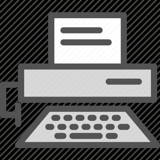 desk, digital, printer, scan icon