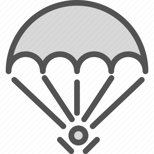 adrenaline, courage, fly, parachute icon