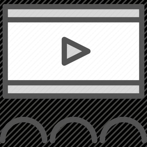 clip, film, movie, play, video icon