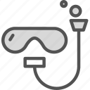 diving, drown, glasses, people, scuba, swim, water icon