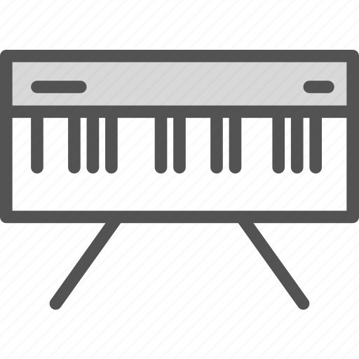 keyboard, music, notes, piano, play icon